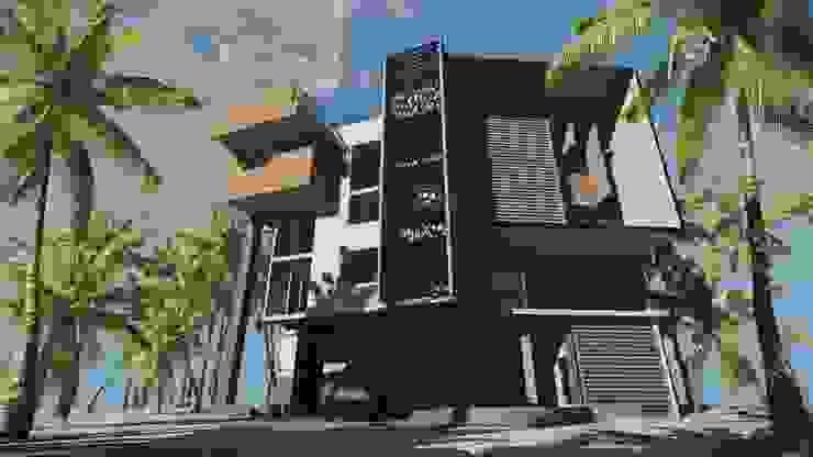 CASA EMR de SG Huerta Arquitecto Cancun Moderno Madera Acabado en madera