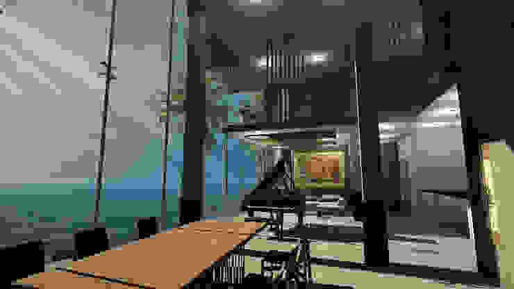 CASA EMR Comedores modernos de SG Huerta Arquitecto Cancun Moderno Madera Acabado en madera