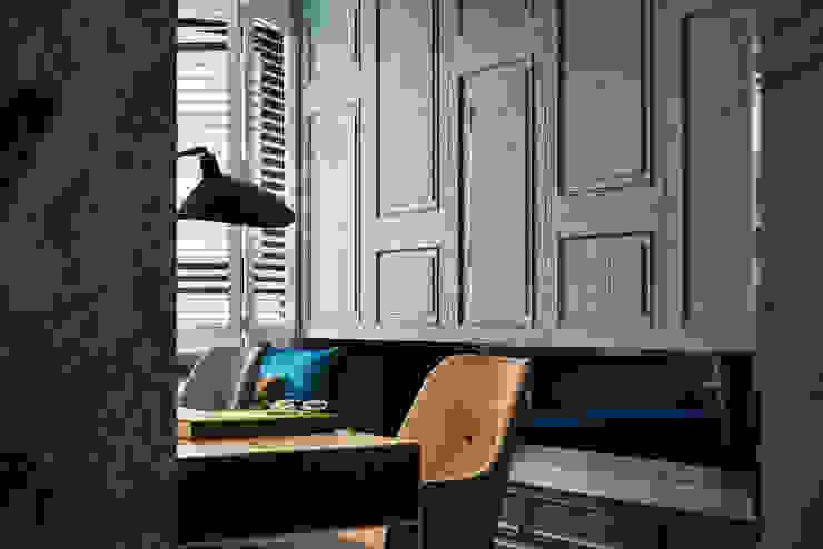 DYD INTERIOR大漾帝國際室內裝修有限公司 Classic style study/office Plywood Green