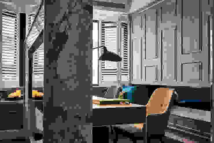 DYD INTERIOR大漾帝國際室內裝修有限公司 Classic style study/office Marble Grey