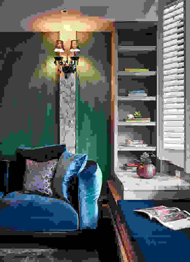 DYD INTERIOR大漾帝國際室內裝修有限公司 Living room Copper/Bronze/Brass Blue