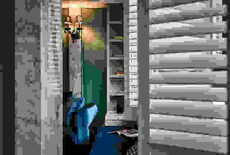 DYD INTERIOR大漾帝國際室內裝修有限公司 Classic windows & doors Solid Wood Blue