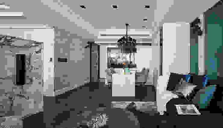 DYD INTERIOR大漾帝國際室內裝修有限公司 Classic style dining room Marble Grey