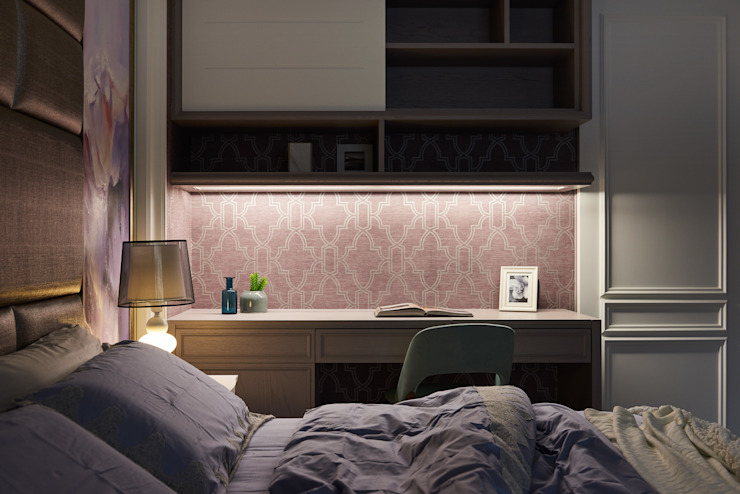 DYD INTERIOR大漾帝國際室內裝修有限公司 Dormitorios de estilo clásico Contrachapado Morado/Violeta