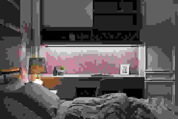 DYD INTERIOR大漾帝國際室內裝修有限公司 Classic style bedroom Plywood Purple/Violet
