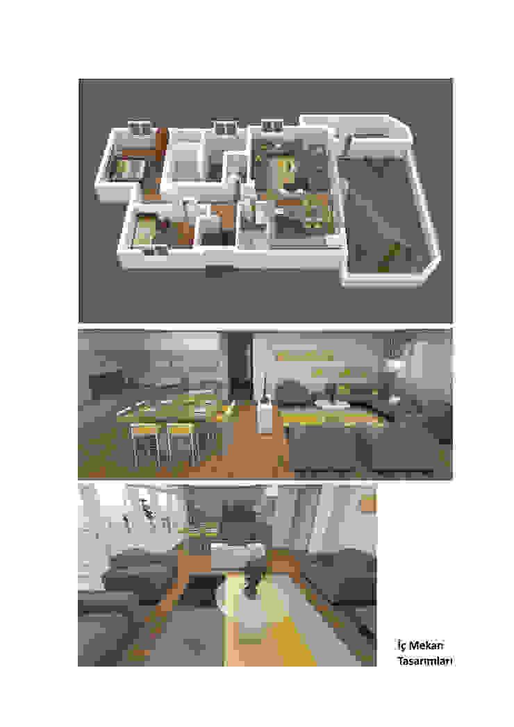 3D Görselleştirme ve İç Mekan Tasarım Çalışması Modern Oturma Odası Roma Mimarlık Modern İşlenmiş Ahşap Şeffaf