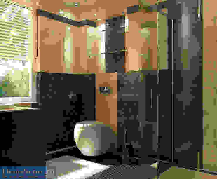 Туалет в подмосковном загородном доме, современный стиль Ванная комната в стиле минимализм от Студия интерьера Дениса Серова Минимализм