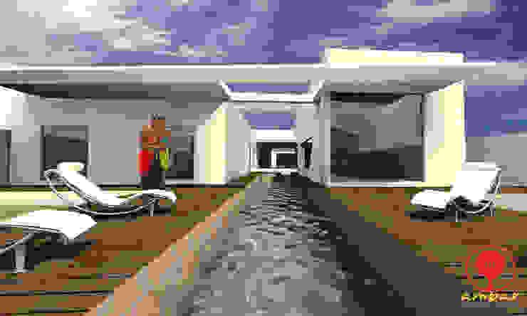 CASA DE LOS PATIOS Casas minimalistas de SG Huerta Arquitecto Cancun Minimalista Madera Acabado en madera