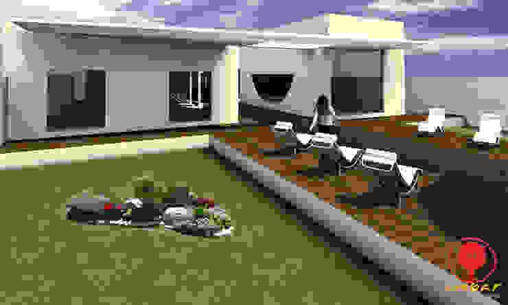 CASA DE LOS PATIOS Jardines minimalistas de SG Huerta Arquitecto Cancun Minimalista Madera Acabado en madera