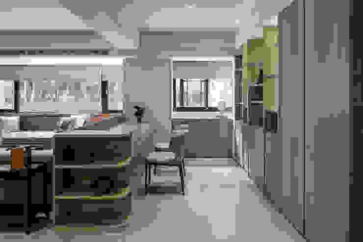 與陽光的約會 大荷室內裝修設計工程有限公司 Modern Study Room and Home Office