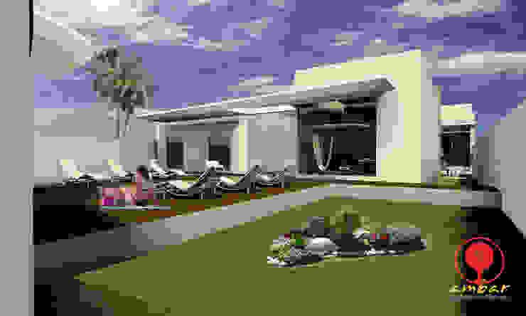 CASA DE LOS PATIOS Jardines minimalistas de SG Huerta Arquitecto Cancun Minimalista Piedra