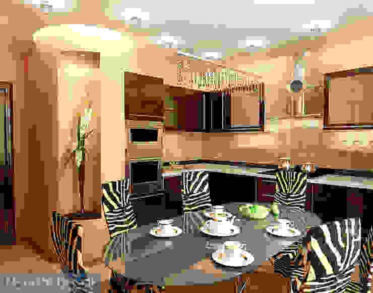 Minimalist dining room by Студия интерьера Дениса Серова Minimalist