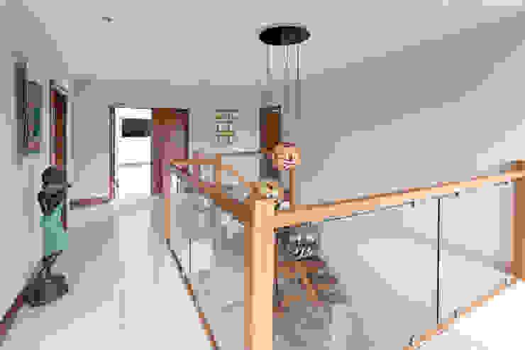Dunadry House Modern corridor, hallway & stairs by slemish design studio architects Modern