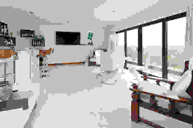 Dunadry House Modern media room by slemish design studio architects Modern