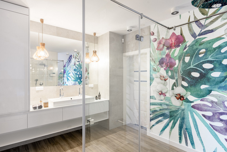 Ванные комнаты в . Автор – Pracownia Projektowania Wnętrz Karolina Czapla, Модерн