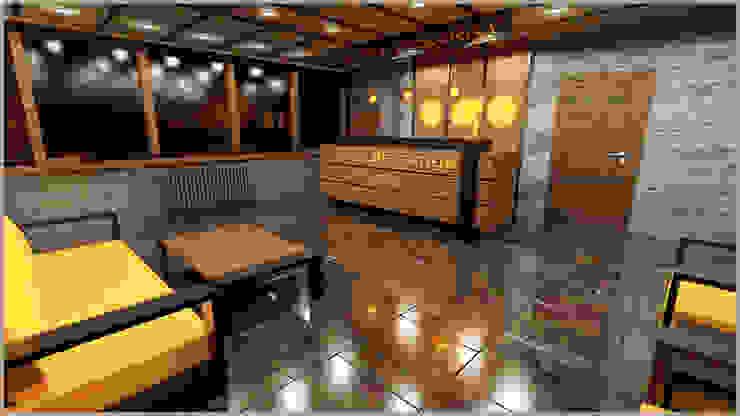 kervansaray hotel ( RİZE AYDER YAYALASI ) anılbora3D & İÇ MİMARLIK Rustik Ahşap-Plastik Kompozit