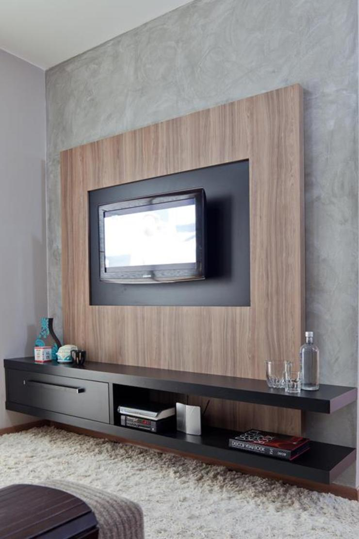 Salas multimedia de estilo moderno de Cia de Arquitetura Moderno