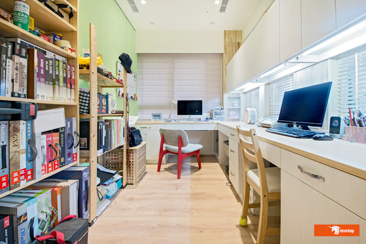 書房 Eclectic style study/office by Unicorn Design Eclectic