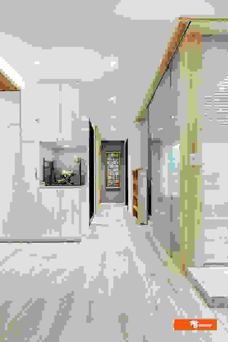 走廊 隨意取材風玄關、階梯與走廊 根據 Unicorn Design 隨意取材風