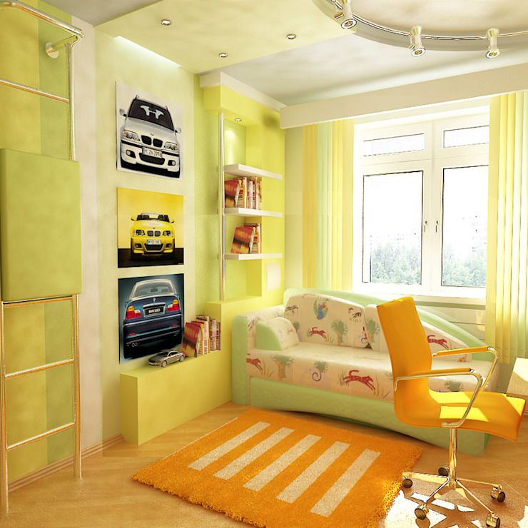 Nursery/kid's room by Студия интерьера Дениса Серова, Modern