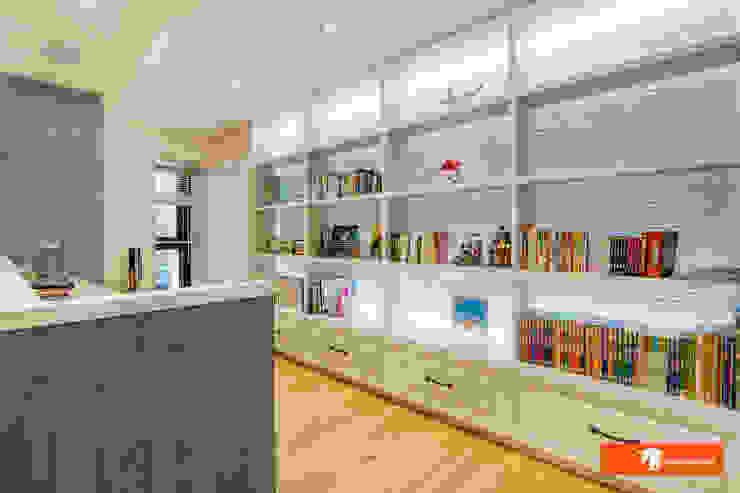 Oficinas y bibliotecas de estilo rural de Unicorn Design Rural