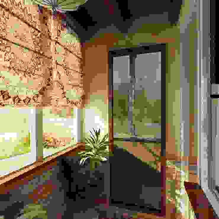 Balcones y terrazas modernos de Студия интерьера Дениса Серова Moderno