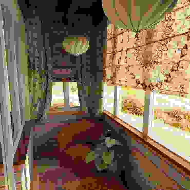 Студия интерьера Дениса Серова Modern balcony, veranda & terrace