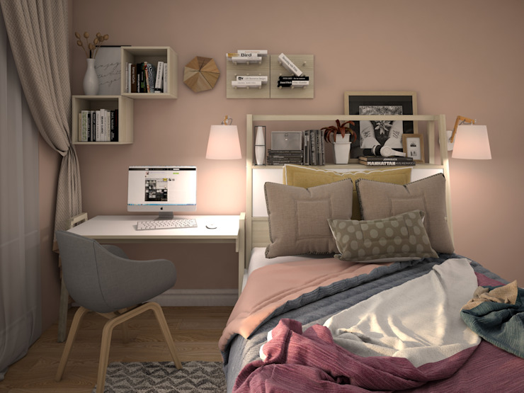 КS-Interiors Eclectic style bedroom