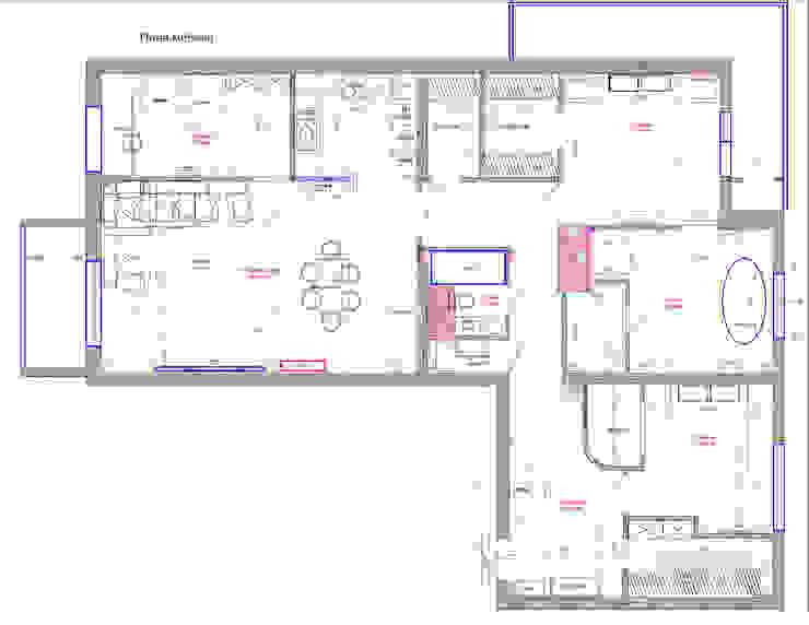 Modern Walls and Floors by Студия интерьера Дениса Серова Modern