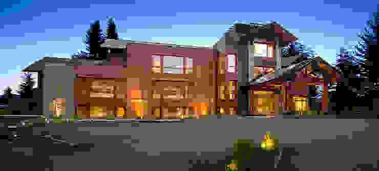 Iluminacion exterior Hoteles de estilo moderno de INTEGRAR DISEÑO Moderno