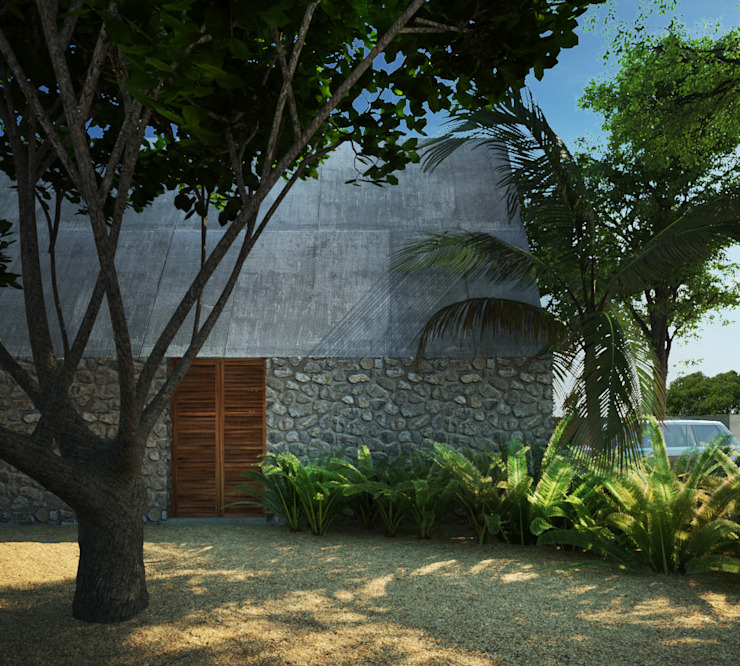 Casas de estilo tropical de La Desarrolladora Tropical Piedra