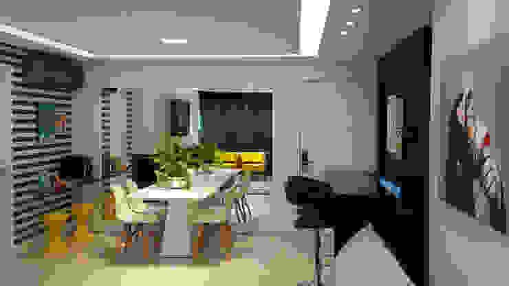 Salones modernos de Carolina Burin & Arquitetos Associados Moderno