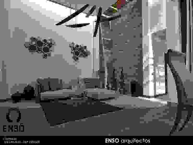 CASA FORTEZZA Salones modernos de Enso Arquitectos Moderno