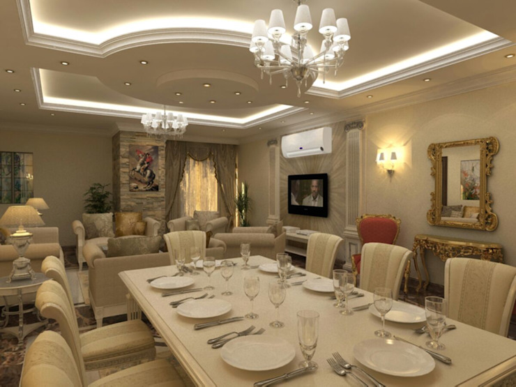 Salas de jantar clássicas por الرواد العرب Clássico