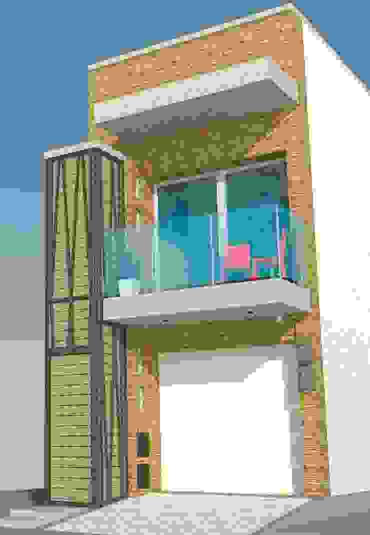 Fachada frontal Casas modernas de TALLER 9, ARQUITECTURA Moderno