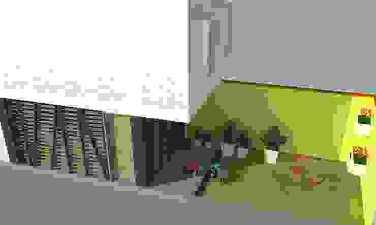 Patio trasero. Jardines de estilo moderno de TALLER 9, ARQUITECTURA Moderno