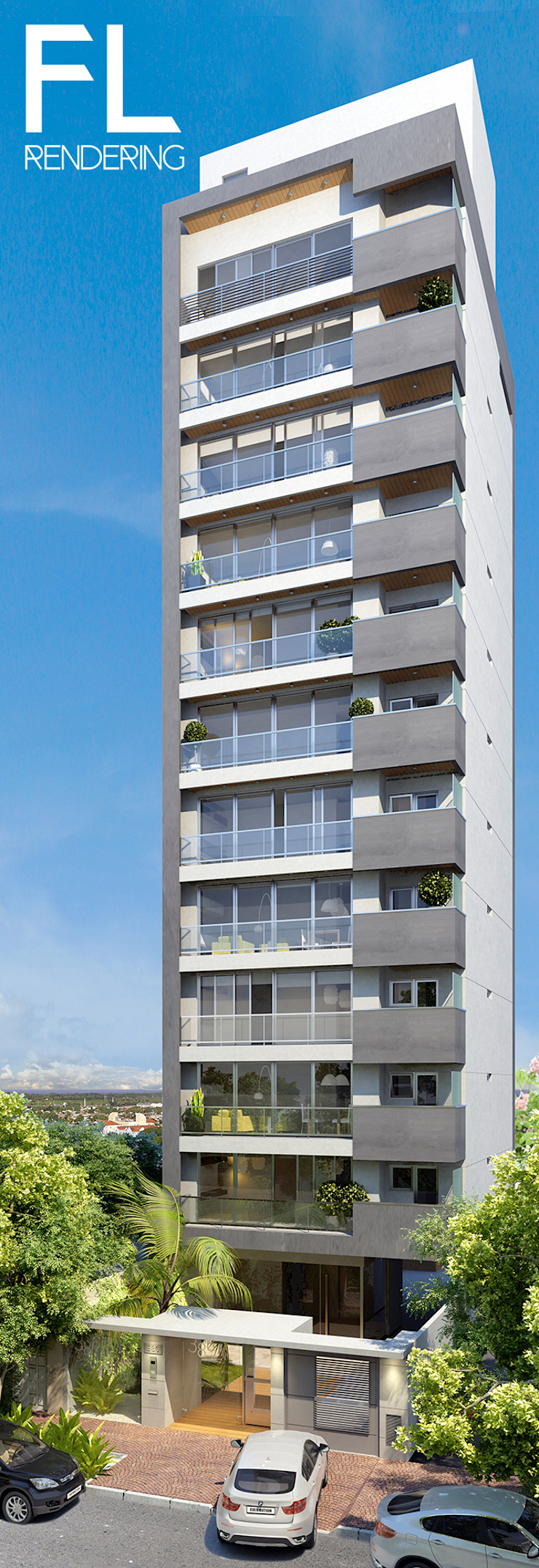 EXTERIORES Casas modernas: Ideas, imágenes y decoración de FL Rendering Moderno