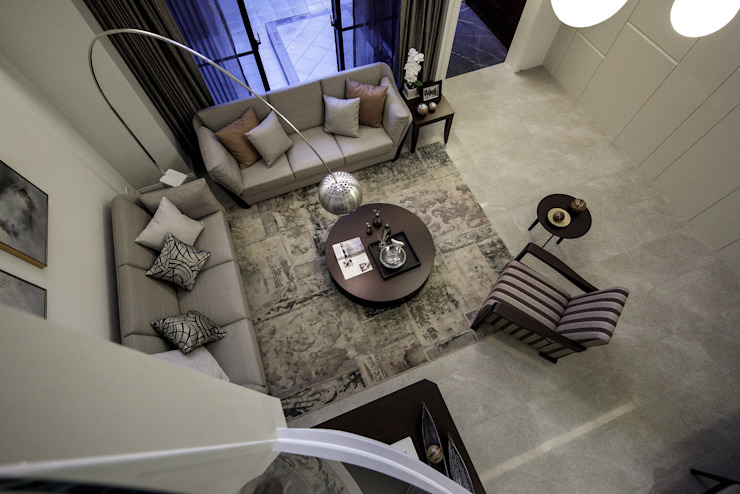 Salon moderne par 大荷室內裝修設計工程有限公司 Moderne