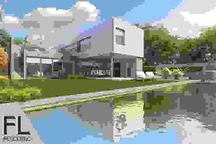 EXTERIORES Casas minimalistas de FL Rendering Minimalista