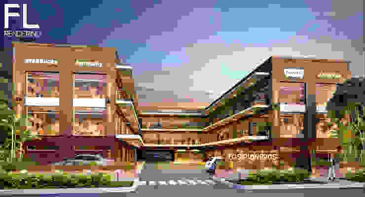 EXTERIORES Estudios y oficinas modernos de FL Rendering Moderno