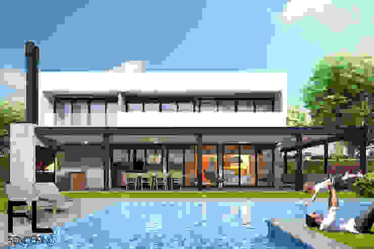 Casas de estilo minimalista de FL Rendering Minimalista