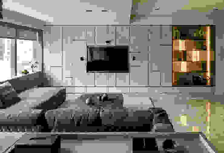 Livings de estilo moderno de 大荷室內裝修設計工程有限公司 Moderno