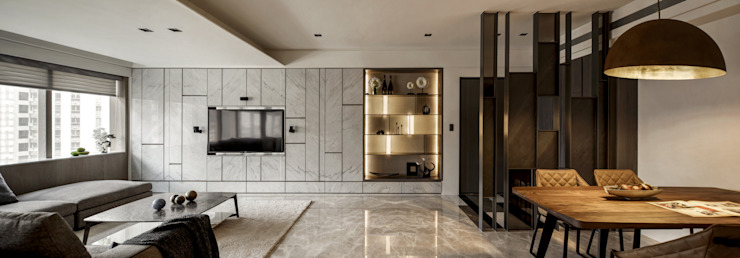 家的眷戀 现代客厅設計點子、靈感 & 圖片 根據 大荷室內裝修設計工程有限公司 現代風