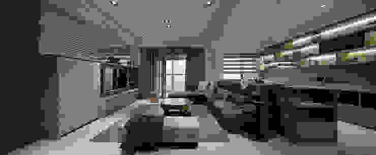 關於家的體感溫度 现代客厅設計點子、靈感 & 圖片 根據 大荷室內裝修設計工程有限公司 現代風