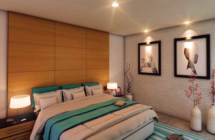 Modern Bedroom by GRUPO ESCALA ARQUITECTOS Modern