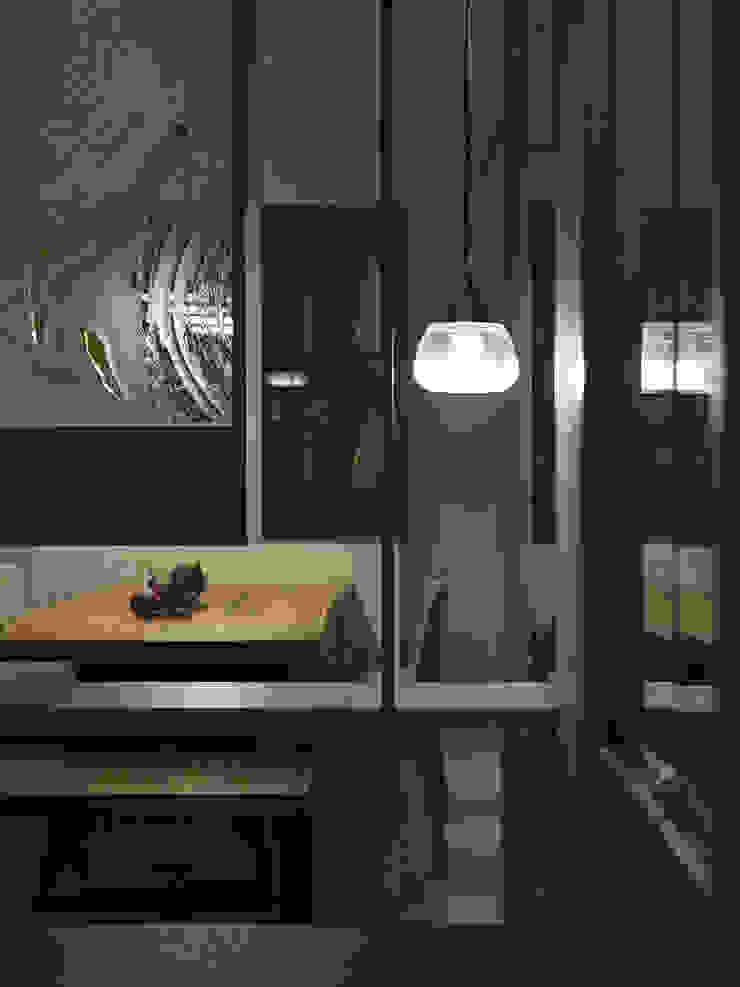 關於家的體感溫度 Modern Corridor, Hallway and Staircase by 大荷室內裝修設計工程有限公司 Modern