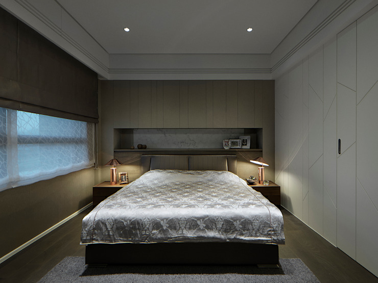 關於家的體感溫度 Modern style bedroom by 大荷室內裝修設計工程有限公司 Modern