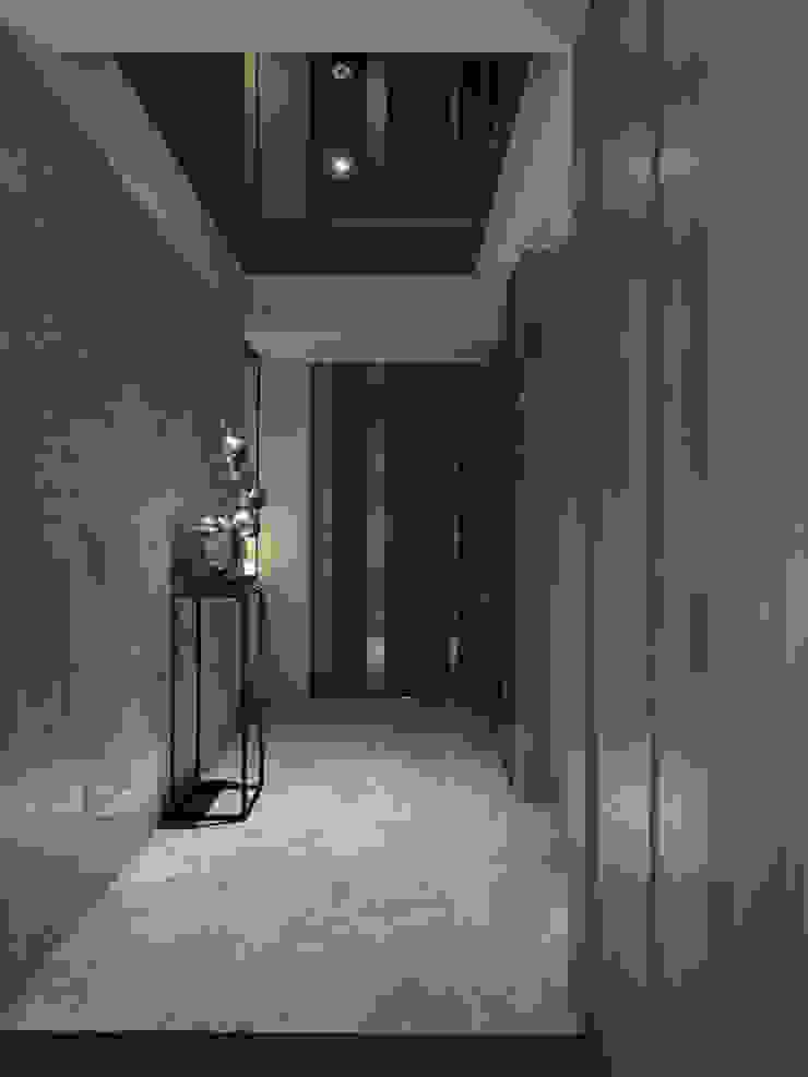 工作空間的最大值 大荷室內裝修設計工程有限公司 Modern corridor, hallway & stairs