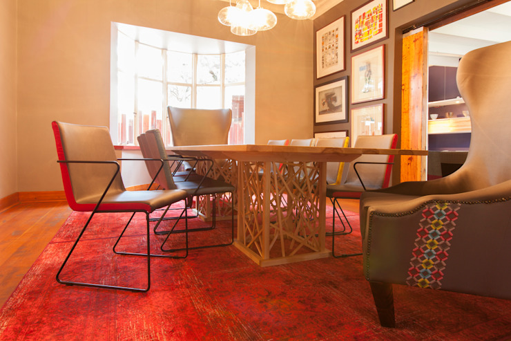House B Jozi Eclectic style dining room by Redesign Interiors Eclectic