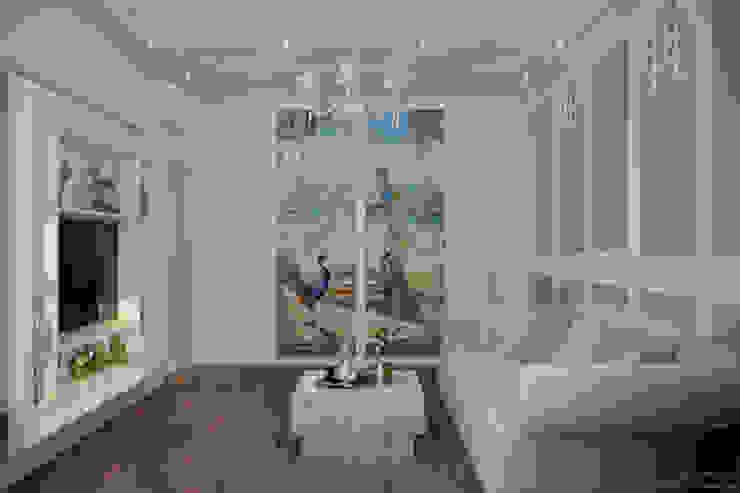 """Дизайн кабинета в классическом стиле в квартире в ЖК """"Ливанский дом"""", г.Краснодар Рабочий кабинет в классическом стиле от Студия интерьерного дизайна happy.design Классический"""